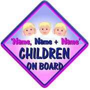 Children on Board Sign
