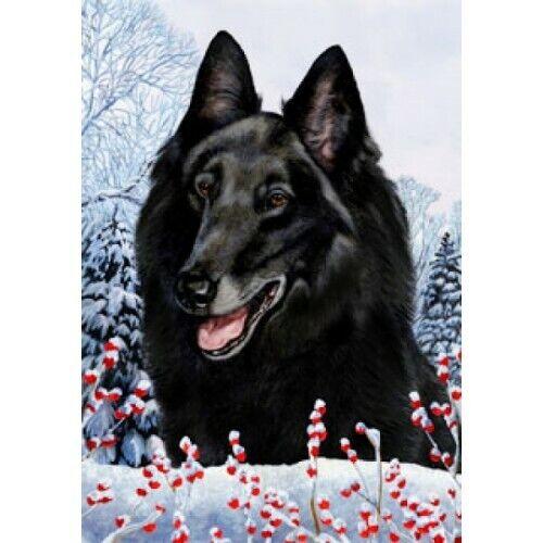 Winter Garden Flag - Belgian Sheepdog 152041