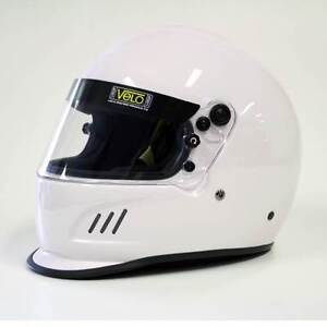Velo Race Helmet - White Full Face with HANS posts - Large size South Melbourne Port Phillip Preview