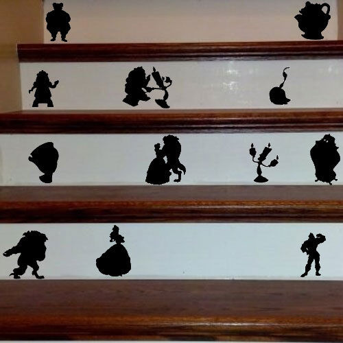 Beauty and the Beast Decal Sticker for Home Door Stair Windo
