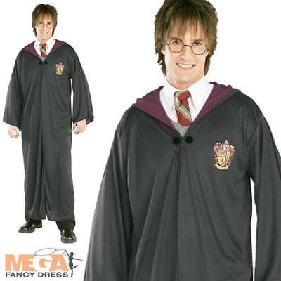 Harry Potter Robe Adults Fancy Dress Book Week Mens Ladies Costume Cloak Outfit