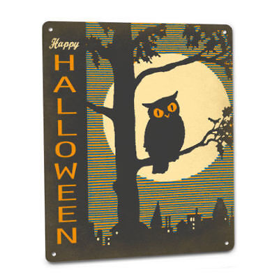 Happy Halloween Owl Sign Party Decor Decoration Prop Wall Art Trick or Treat (Halloween Party Sign)