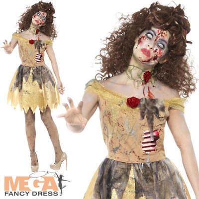 Dead Zombie Princess Golden Fairytale Adult Womens Halloween Fancy Dress - Halloween Costumes Zombie Princess