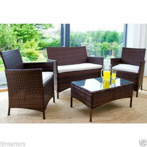 Garden Furniture - RATTAN GARDEN FURNITURE 3 SEATER WICKER SOFA CLEARANCE PRICE OUTDOOR PATIO