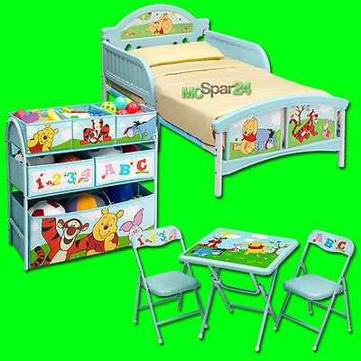Disney Winnie Puuh Kindermöbel Set Kinder Bett Regal Sitzgruppe Stuhl Tisch NEU