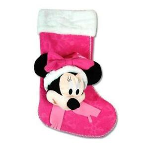 "Disney Minnie 18"" 3D Head Felt Stocking with Plush Cuff"
