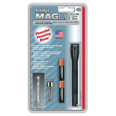 Maglite M3A016 Black Mini-Mag AAA 1200 Candlepower Flashlight Light
