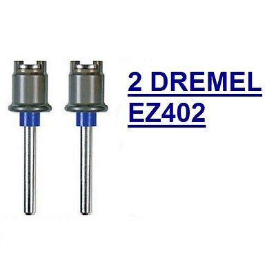 2 NEW DREMEL EZ LOCK MANDREL EZ402, USE WITH ALL DREMEL EZLOCK ACCESSORIES SC402