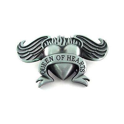 ts Fire Angel Wings Biker Motorcycle Metal Belt Buckle (Hearts Of Fire Tattoo)