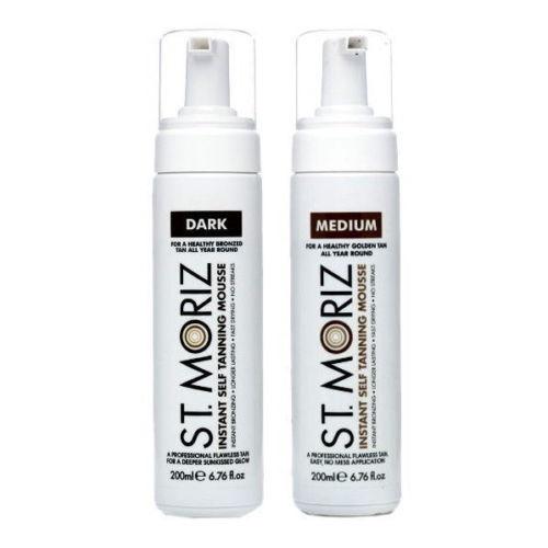 St Moriz Instant Self Tanning MOUSSE fake Tan Medium or Dark 200ML
