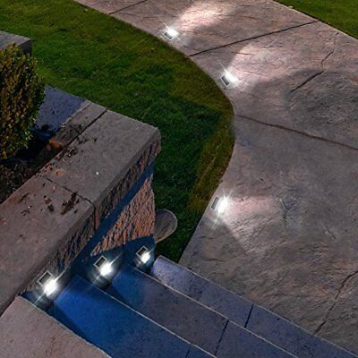 Solar Step Lights Lights, Stair Deck Lamp,Outdoor Stainless