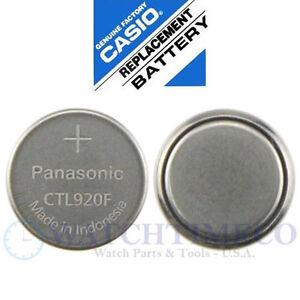 Panasonic CTL920 CTL920F Battery Casio G-Shock Edifice Atomic Wave Ceptor Solar