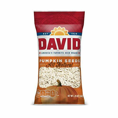 DAVID Roasted and Salted Pumpkin Seeds, 2.25 oz