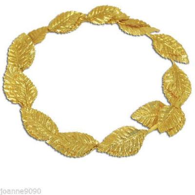 Unisex Ancient Roman Greek Gold leaf wreath god goddess Headpiece Headband Cease