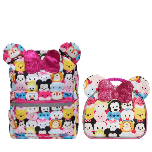 """Disney Tsum Tsum 16"""" Backpack and Insulated Lunch Box School"""