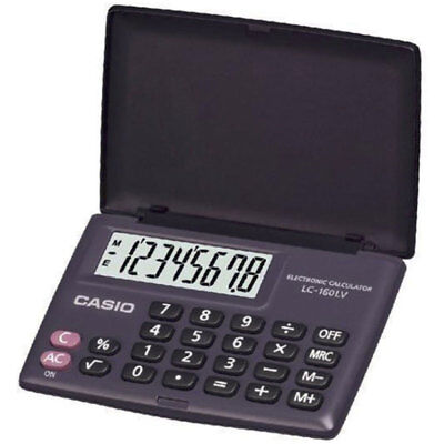 Casio LC160LV Big Display Electronic Pocket Calculator with Cover