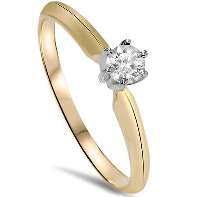14k Yellow Gold 14ct Round Diamond Solitaire Engagement Ring