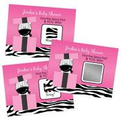 Zebra Print Baby Shower Favors