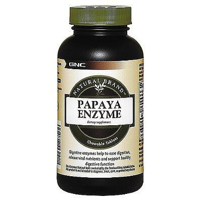 GNC Natural Brandtrade Papaya Enzyme 600 chewable tablets