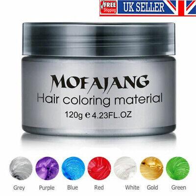 6 Colors Mofajang Unisex Hair Color Wax Mud Dye Styling Cream DIY Coloring