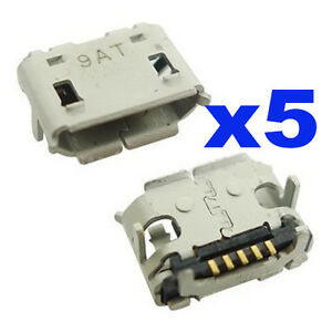 5-x-Blackberry-8520-9300-8230-9700-9780-Micro-USB-Charging-Block-Connector-Port