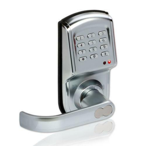 electronic keypad door lock ebay. Black Bedroom Furniture Sets. Home Design Ideas