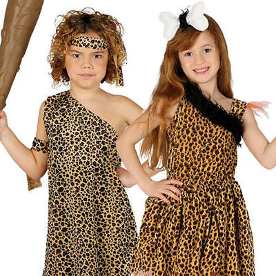 Caveman Kids Fancy Dress Cavegirl Prehistoric Stone Age Boys Girls Costumes ](Kids Caveman Costumes)