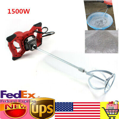 Industrial Electric Concrete Cement Mixer Thinset Grout Mud Mixing Mortar 1500w