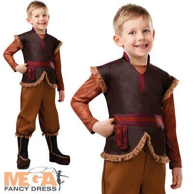 Deluxe Kristoff Boys Fancy Dress Disney Frozen Fairy Tale Kids Costume Outfit