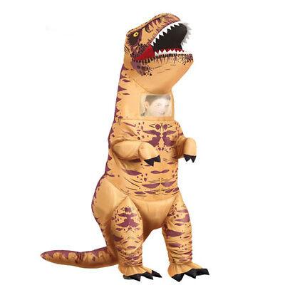 costume dinosauro t-rex gonfiabile tg L 52-54 adulto vestiti carnevale