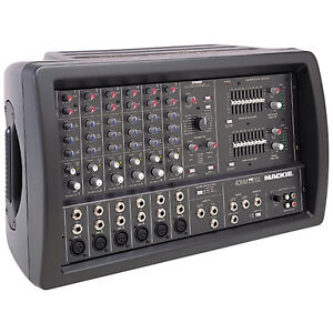 Mackie 406M 500w Powered Mixer & 2 Yorkville YX12 Loud Speakers