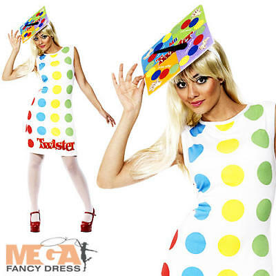 Twister Ladies Fancy Dress Fun Toy Board Game Adults Novelty Costume Outfit  - Twister Game Costume