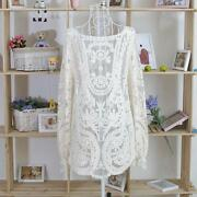 Womens White Lace Tops