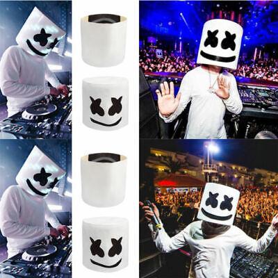 MarshMello DJ Mask Full Head Helmet Party  Club Cosplay Bar Music Props Mask