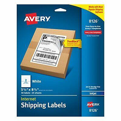 Shipping Address Labels Inkjet Printers 50pcs Permanent Adhesive 1 Pack White