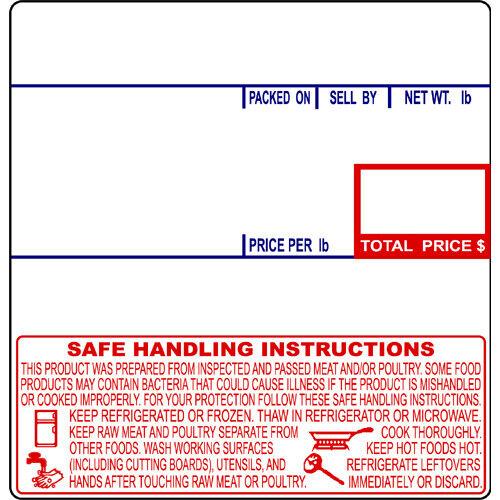 CAS LP-1000 #8040 UPC Safe Handling Thermal Labels