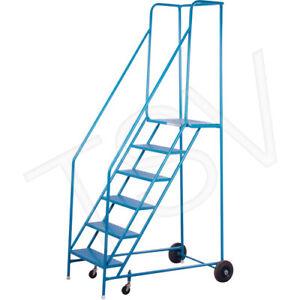 """KLETON 2406H 6 STEP Rolling Ladder 55"""""""