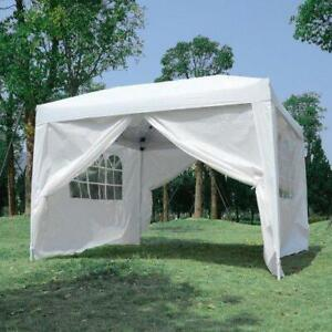 TRENDALS® ALL INCLUSIVE PRICE | 10x10 ft Easy Pop Up Wedding Party Tent White SPRING SALE