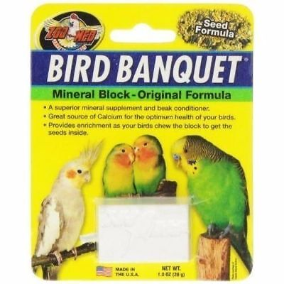 Bird Banquet Zoo Med Mineral Block Original Seed Formula Food 1oz