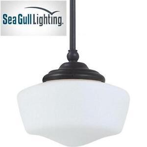 NEW SGL 1-LIGHT BRONZE PENDANT - 110335302 - SEA GULL LIGHTING ACADEMY HEIRBLOOM