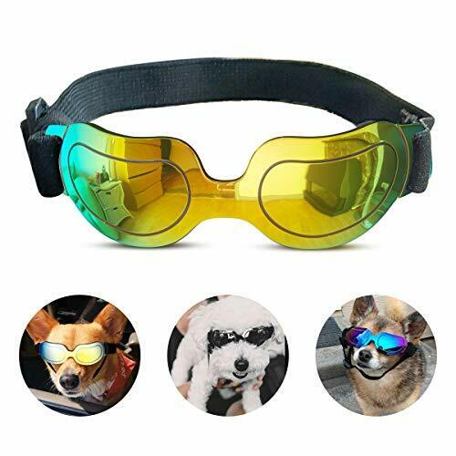 Dog Sunglasses Small Dog Goggles Doggles Dog Glasses for Small Dogs UV Yellow