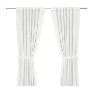 2 pairs of white cotton curtains