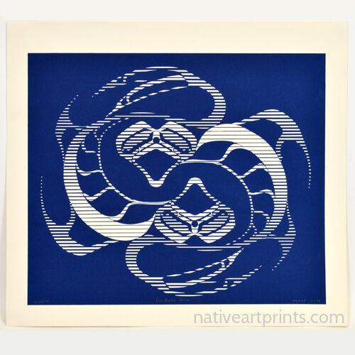 Vintage 1979 Haida Rick Adkins Yin Yang Fish Print Ltd Edition Of 225 Signed