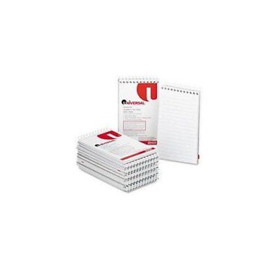 UNIVERSAL OFFICE PRODUCTS 20435 Wirebound Memo Books, Narrow Rule, 3 X 5, White,