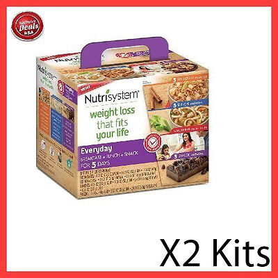 Nutrisystem Everyday 5 Day Weight Loss Kit Diet Food Meals Breakfast   2 Pack