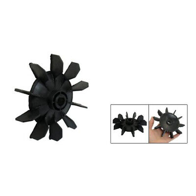 Air Compressor Part Black Plastic 14mm Inner Dia. Ten Vanes Motor Fan Blade Ts