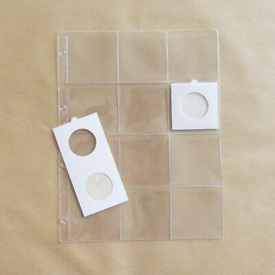 10 inlegbladen Din met 12 vakken voor grote munthouders 67x67 mm en theezakjes