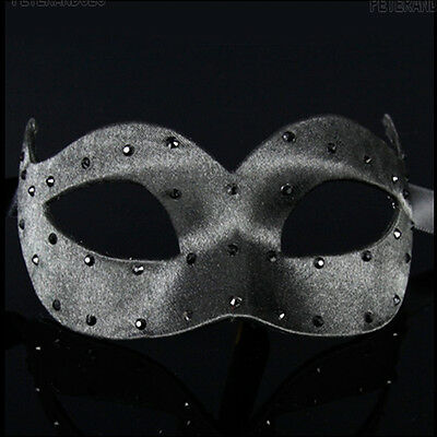 MASK VENICE WOLF COLOMBINE SATIN SMOOTHING A BLACK PEA PAPER MASH 469