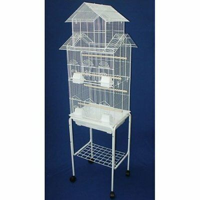 "6844 3/8"" Bar Spacing Tall Pagoda Top Small Bird Cage With Stand - 18""x14"" In..."