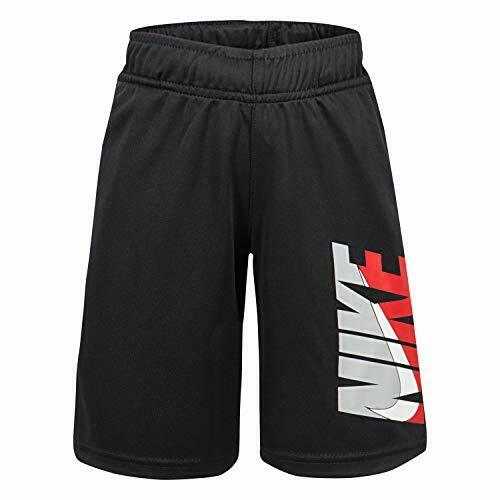 NWT Nike Boys Youth Athletic Logo Shorts Size 6 Black 86G234 023 Dri Fit $24